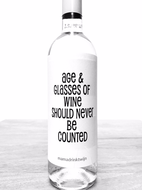 Age Glasses wijnetiket, plak humor op je fles wijn