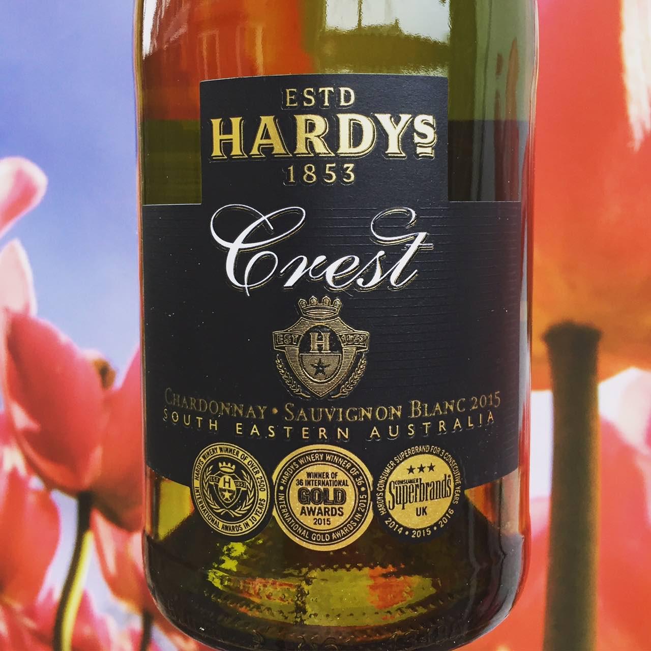Hardy's Crest wit wijnreview door Mama Drinkt Wijn, vinoloog sinds 2006