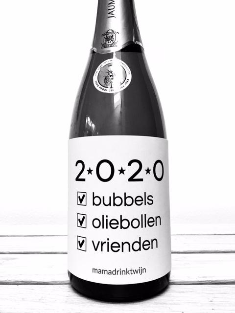 Wijnetiket 2020, de perfecte manier om het nieuwe jaar in te luiden met je vrienden