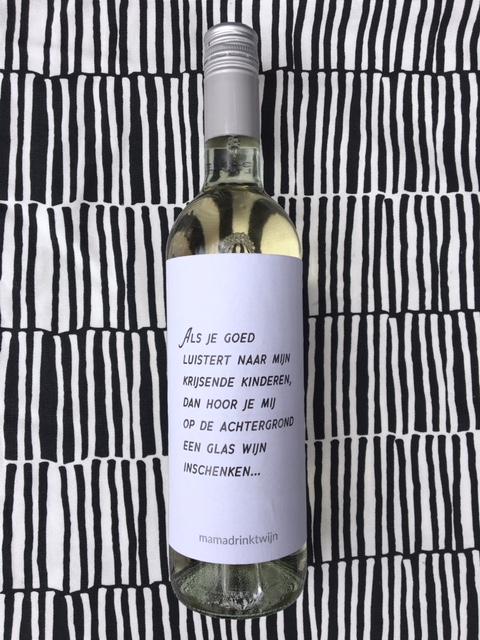 Achtergrond wijnetiket, grappig en origineel kado voor vaderdag of moederdag