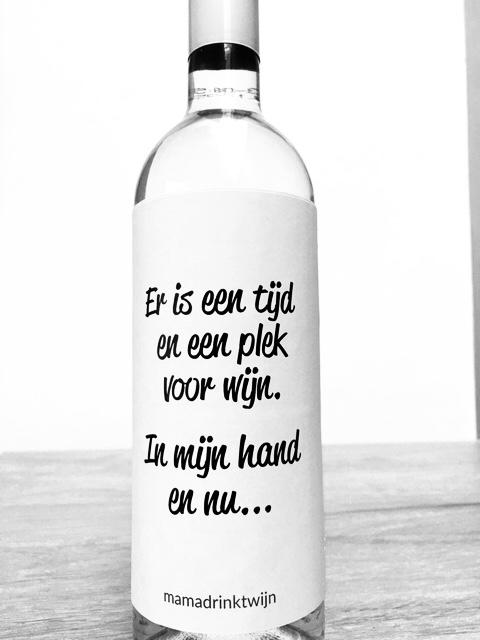 Een Tijd wijnetiket, plak humor op je fles wijn