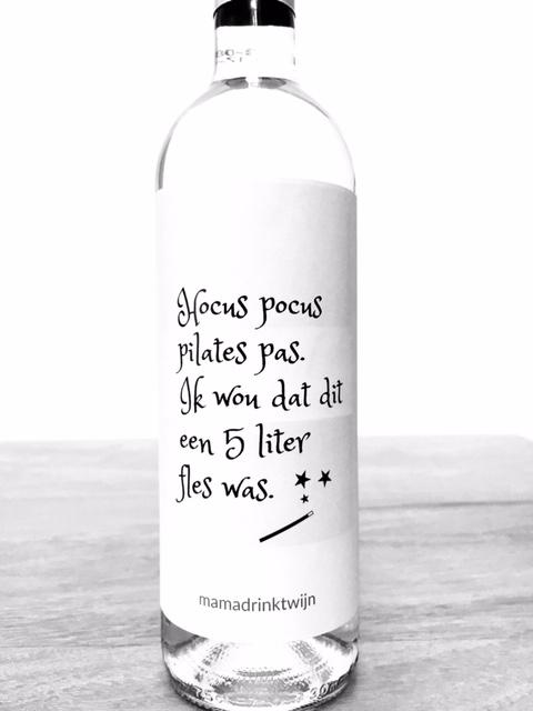 Hocus Pocus wijnetiket, grappig Halloween kado van Mama Drinkt Wijn