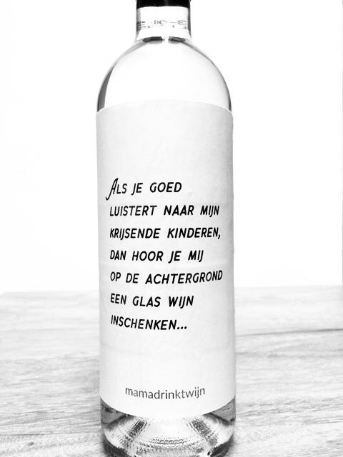 Achtergrond wijnetiket, plak humor op je fles wijn