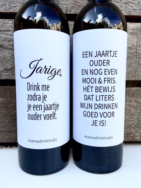 Onze wijnetiketten voor de Jarige, perfect verjaardag cadeau voor wijnliefhebbers