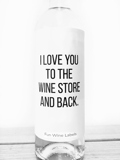 wijnetiket wine store van fun wine labels