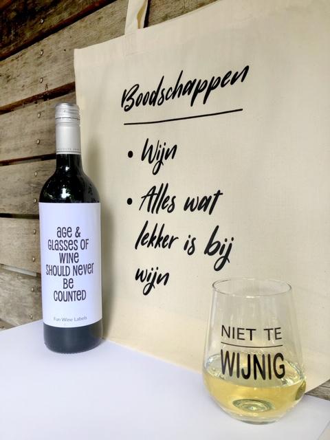 Wijngek pakket - rood, compleet cadeau voor grote wijnliefhebbers