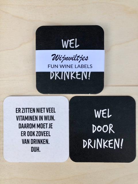 Wijnviltjes 6st. – Door Drinken